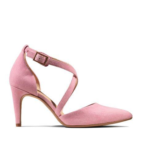 Оригинальные замшевые розовые туфли босоножки Clarks Laina 85 Cross
