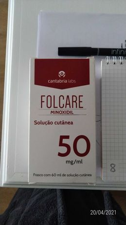 FOLCARE - Minoxidil - tratamento cabelo - Novo