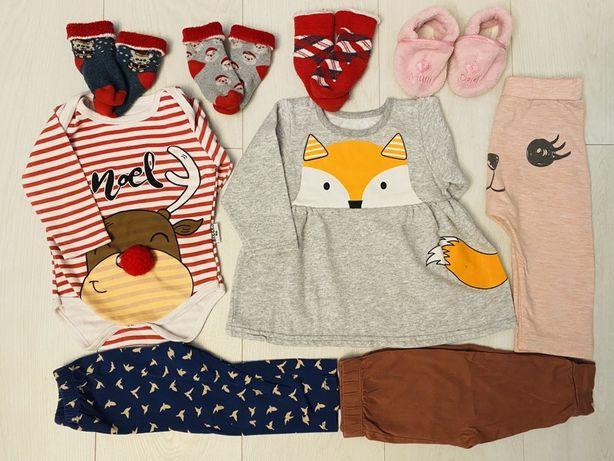 Набор одежды для новорожденных 6-9 мес новый год рождество платье боди