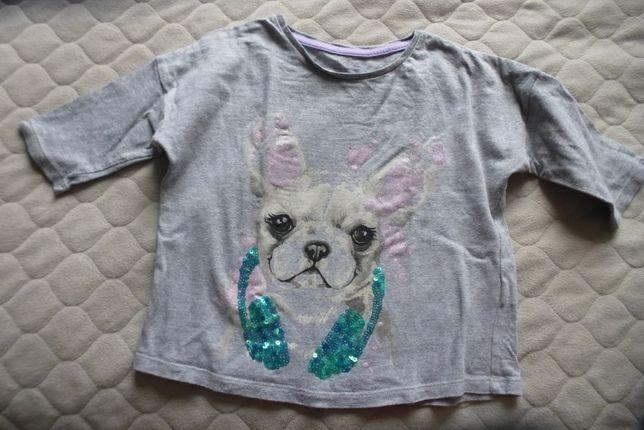 Bluzka, koszulka dziewczęca 6-7 lat