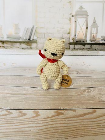 Вязаная игрушка амигуруми мишка ручная работа