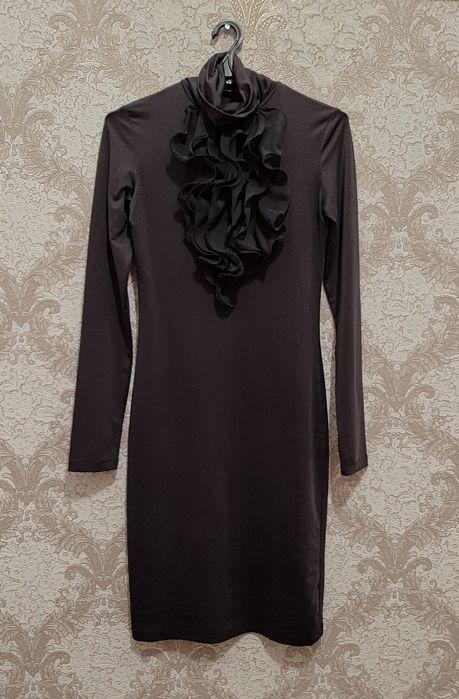 Темно сіре плаття з жабо Умань - изображение 1