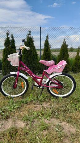 Rower dziecięcy AZIMUT 20 cali + siodełko dla lalki GRATIS
