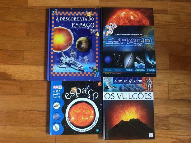 4 Livros sobre Espaço e Vulcões