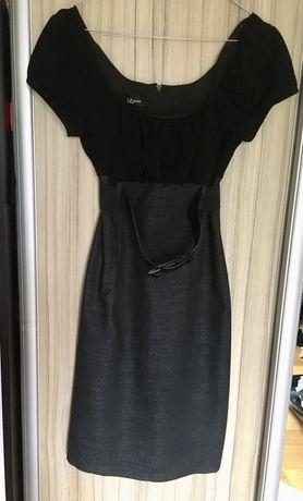 Sukienka czarna z paskiem S