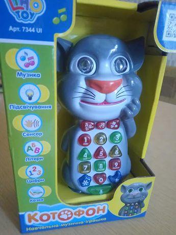 Сенсорный обучающий телефон Котофон, украинский язык