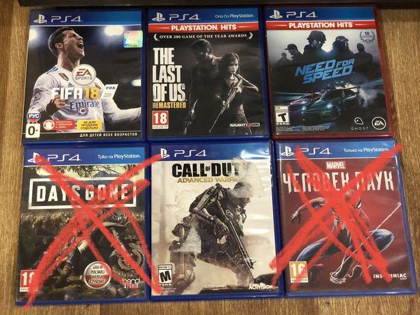 Игры Sony PlayStation 4; spider man, days gone, nfs, fifa, horizon