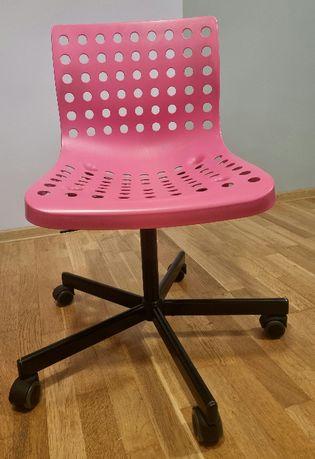 Krzesło obrotowe IKEA SKALBERG różowo-czarne