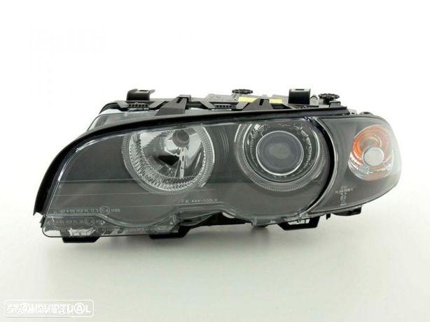 Farois angel eyes BMW E46 2 portas / coupe, cabrio fundo preto (material novo)