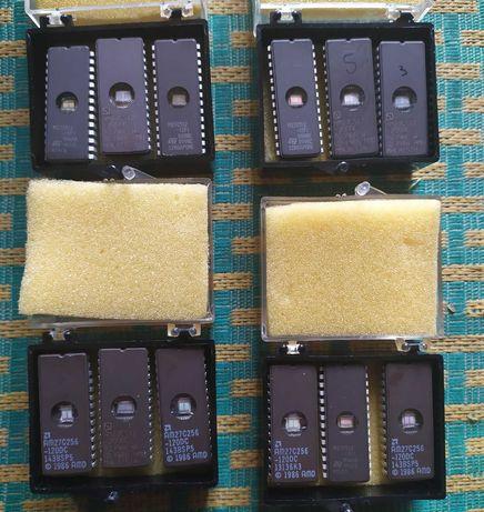 Микросхемы памяти УФ ПЗУ 27c512, 27c256 (UV EPROM)