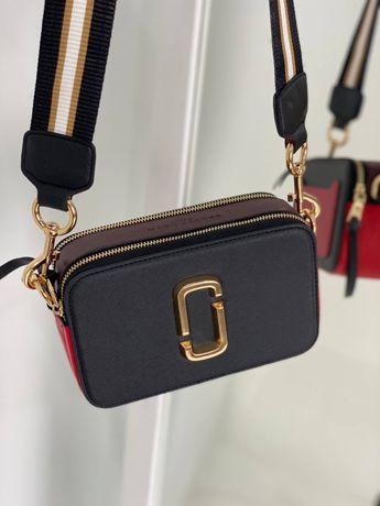 Женская сумочка Marc Jacobs Black Red / Марк Джейкобс