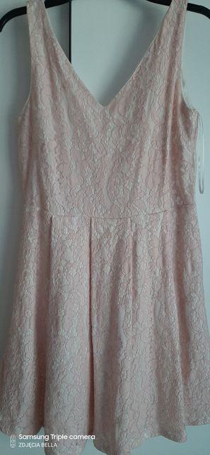 Sukienka różowa koronka Mohito rozmiar m