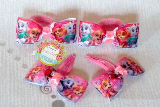 Spinki gumki frotki ozdoby do włosów Psi Patrol Peppa Minnie Pony