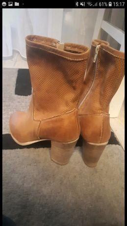 Okazja!Piękne włoskie lekkie skórzane buty 36 rozmiar
