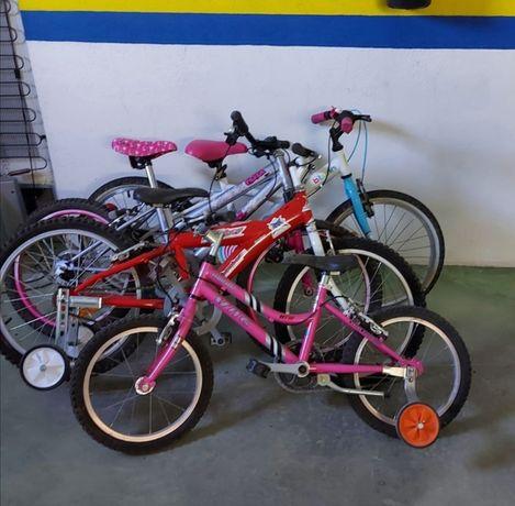 Bicicletas semi novas com muito pouco uso