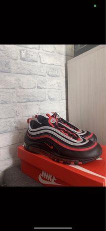 Czarno czerowne buty nike air max 97