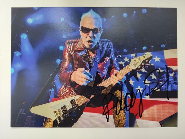 Автограф Рудольфа Шенкера. Гитариста легендарных Scorpions.