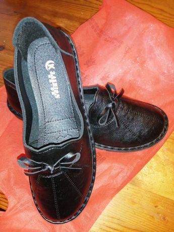 Okazja - nowe skórzane buty r. 36
