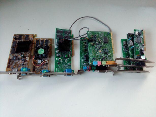 Várias placas informática - gráficas, rede, som, USB