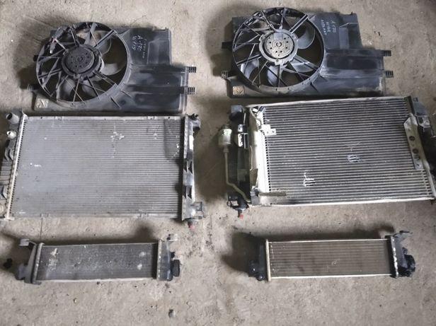 Радіатор вентилятор інтеркуллер mercedes benz A170 W168 розборка