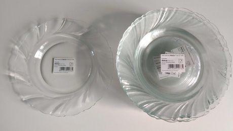 Talerzyki deserowe szklane 17,2 cm (12 szt.)