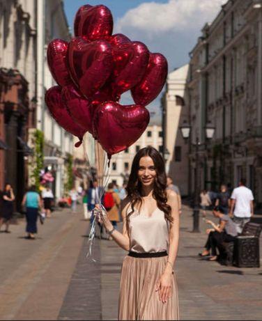 Кульки повітряні гелієві гелій з гелієм шаріки цифри серця валентина