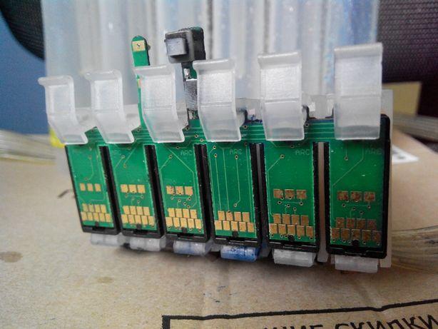 СНПЧ для 6 цветного принтера. Epson. RX590