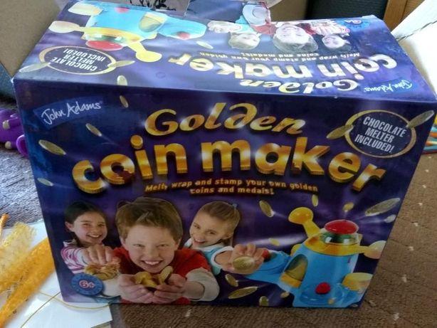 Классная игрушка фабрика для шоколадных конфет golden coin maker