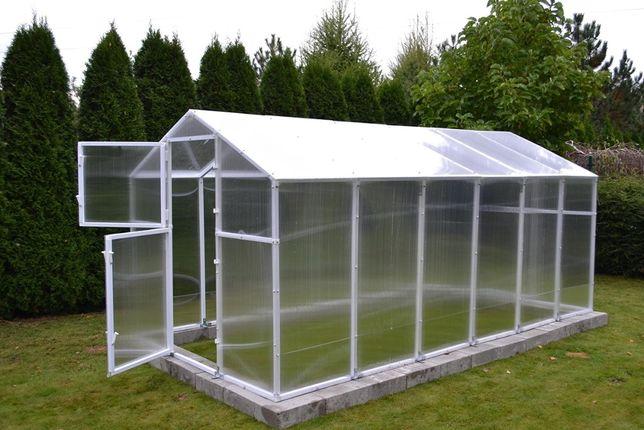 Szklarnia ogrodowa z poliwęglanu PVC stalowa - mocna 8,5m2 - 211x405cm