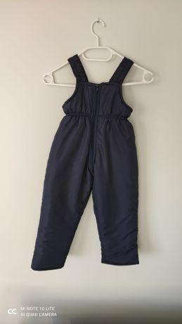 Zimowe spodnie granatowe
