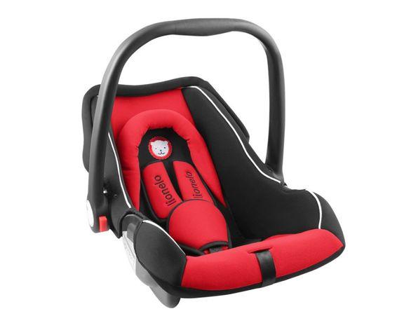 LIONELO nosidełko samochodowe noa 0-13kg pokrowiec czarno-czerwone