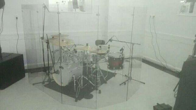 Parawan akustyczny, plexi, poliweglan, perkusja