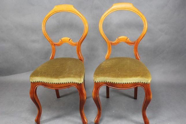 Para krzeseł Ludwik tapicerka welur