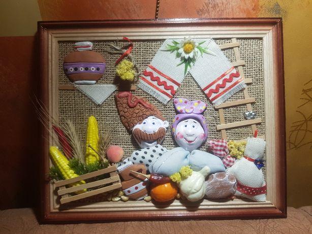 Панно - подарок в украинском колорите