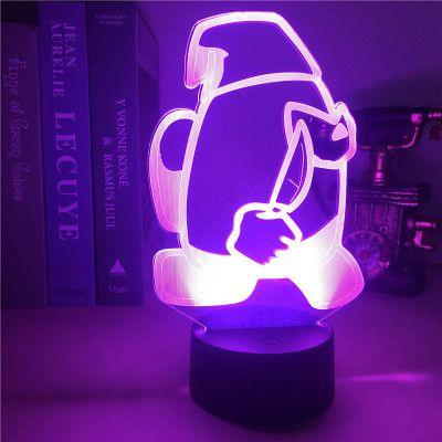 Among Us LED Lamp, Амонг Ас настольная лампа RGB