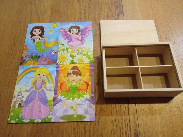 Zestaw drewnianych puzzli Small Foot NOWY