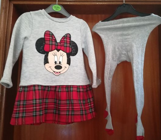 Vestido Minnie com collants