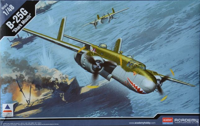 "Сборная модель самолета B-25G ""Shark Mouth"" 1:48 Academy 12290"