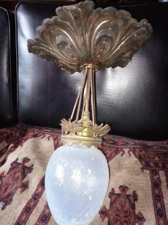 Stara Lampa. Antyk kolekcjonerski XIXwiek oryginał. Lampa z zloceniem.