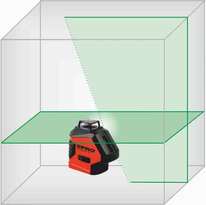 Laser PRO dookolny ZIELONY 1xpion, 1xpoziom 360 LK-1V360HG niwelator Malbork - image 1
