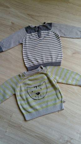 Sweter x 2, sweterki rozm. 74 GEORGE, COCCODRILLO