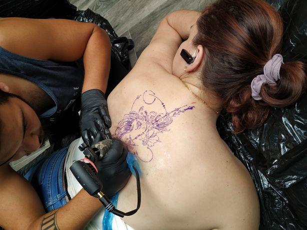 Curso/Formação de Tatuagem/Tatuador com kit de Tatuagem