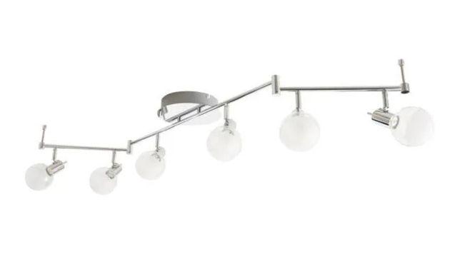 lampa kolekcjonerska liniowa LED szkło metal ruchome ramiona