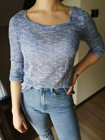 Sweter niebieski bluzka M