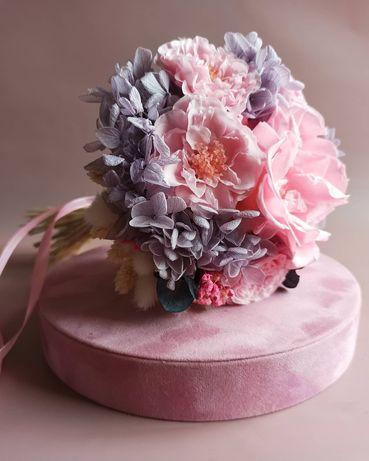 Букет невесты из Стабилизированных цветов и сухоцветов