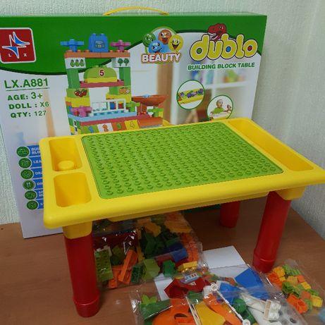 Столик Песочница + Конструктор Дупло Столик для Песка Воды Лего Duplo