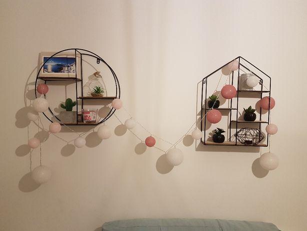 Metalowe półki ozdobne loft