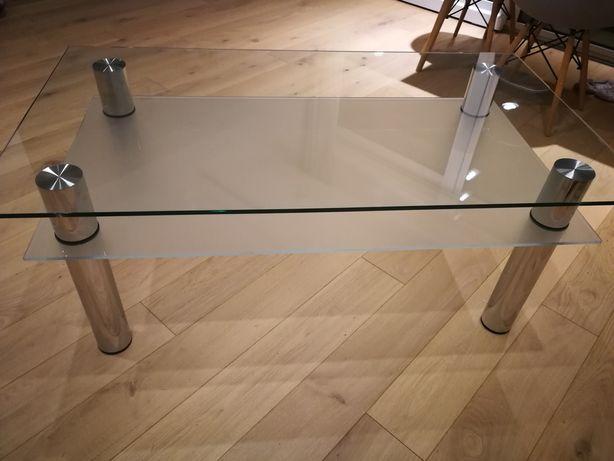 Stół szklany 125/70/50 dwupoziomowy