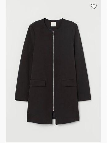 пальто з тканини на застібці-блискавці спереду, м'які плечі, с