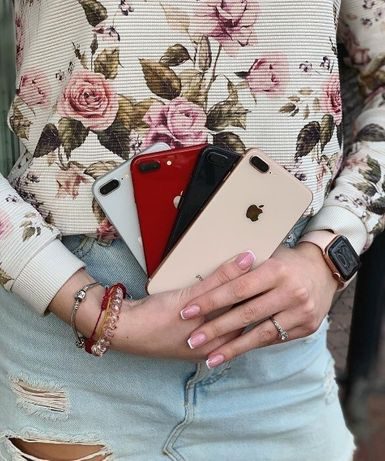 •NEW iPhone 8+ 64, 256 •ОДИН РІК ГАРАНТІЇ• Gray,Red,Gold,Silver + СКЛО